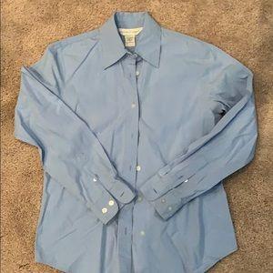 Womens long sleeve light blue dress shirt size 2